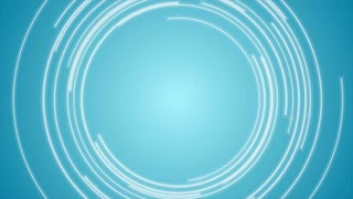 Abstract blue tech circles motion background. Video animation Ultra HD 4K 3840x2160