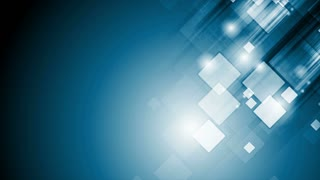 Abstract blue tech geometric motion background with squares. Video animation Ultra HD 4K 3840x2160