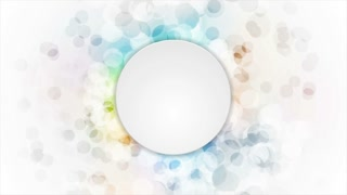 Abstract colorful grunge circles with blank circle motion background. Video corporate animation Ultra HD 4K 3840x2160