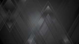 Black abstract tech triangles motion background. Video animation Ultra HD 4K 3840x2160
