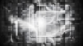Black and white tech squares abstract background. Video animation HD 1920x1080