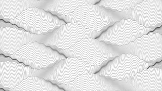 Black and white wavy ripple lines motion background. Seamless looping. Video animation Ultra HD 4K 3840x2160