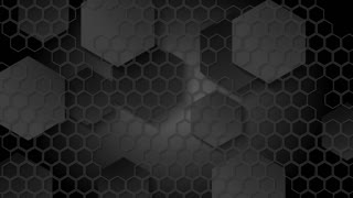 Black geometric animated motion design with hexagons mesh. Video animation Ultra HD 4K 3840x2160