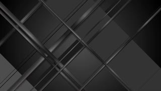 Black geometric glossy stripes motion graphic design. Video animation Ultra HD 4K 3840x2160