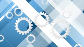 Blue tech minimal motion background with gears mechanism. Video animation Ultra HD 4K 3840x2160