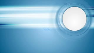 Blue tech motion background with arrows and blank circle. Video animation Ultra HD 4K 3840x2160