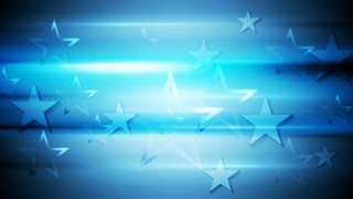 Bright blue stars motion graphic design. Video animation HD 1920x1080