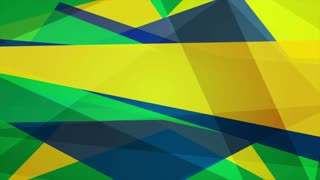 Bright geometric shapes motion design, Brazilian colors. Video animation Ultra HD 4K 3840x2160