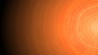 Bright orange gear, circuit board and arrows tech background. Video animation HD 1920x1080