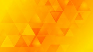 Bright orange geometric tech background with triangles. Video animation HD 1920x1080