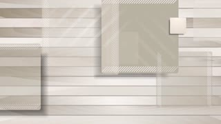 Brown abstract geometric  squares on wooden background. Seamless loop design. Video tech animation HD 1920x1080