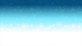 Christmas video animation with snow and blue label sticker. Motion graphic design video clip Ultra HD 4K 3840x2160