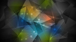 Colorful low poly tech communication motion design. Video animation Ultra HD 4K 3840x2160