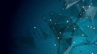 Dark blue abstract technology low poly communication motion design. Video animation Ultra HD 4K 3840x2160