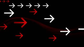 Dark red waves and arrows tech motion background. Video animation Ultra HD 4K 3840x2160