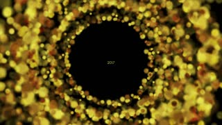 Glowing golden particles New Year 2017 abstract motion graphic design. Video animation Ultra HD 4K 3840x2160