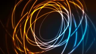 Glowing neon ellipses, bright traces motion background. Seamless loopable. Video animation Ultra HD 4K 3840x2160