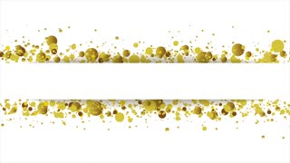 Golden glitter round particles shiny animated background. Motion graphic design video clip Ultra HD 4K 3840x2160