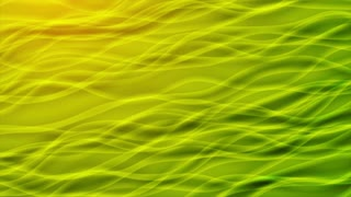 Green and yellow abstract curved lines motion wavy background. Video animation Ultra HD 4K 3840x2160