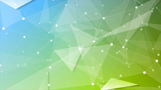 Green blue tech geometric polygonal motion background. Video corporate low poly animation Ultra HD 4K 3840x2160