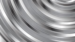 Moving round metallic shapes design. Video animation 1920x1080