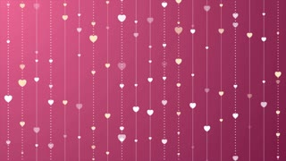 Pink and purple St Valentines motion graphic design with hearts. Video animation clip Ultra HD 4K 3840x2160