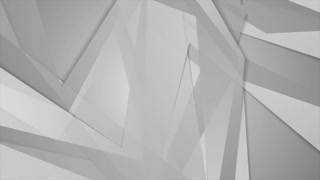 Polygonal grey shapes geometric video clip animation. Motion background HD 4K 3840x2160