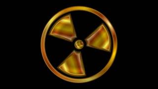Radioactive symbol design. Seamless loop. Video animation HD 1920x1080
