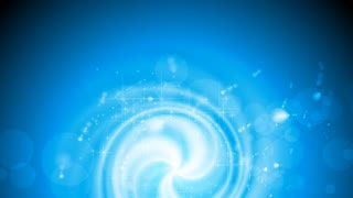Shiny blue swirl background with sparks. Video animation HD 1920x1080