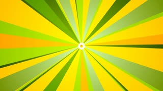 Summer motion design with camomile and beams. Video animation HD 1920x1080