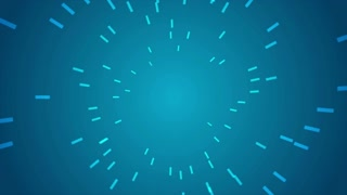 Abstract blue dotted lines motion design. Video seamless looping animation Ultra HD 4K 3840x2160