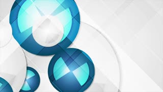 Abstract blue geometric corporate animated background. Seamless looping video clip Ultra HD 4K 3840x2160