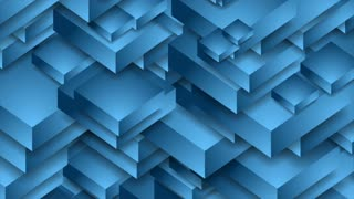 Abstract blue technology 3d shapes motion graphic design. Seamless looping. Video animation Ultra HD 4K 3840x2160