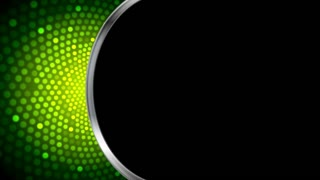 Abstract bright green shiny motion design with silver stripe and black background. Seamless looping video animation Ultra HD 4K 3840x2160
