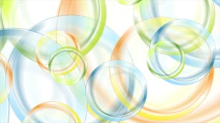 Abstract colorful glossy circles motion background. Seamless looping. Video animation Ultra HD 4K 3840x2160