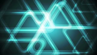 Abstract dark turquoise polygonal triangles motion background. Video animation Ultra HD 4K 3840x2160