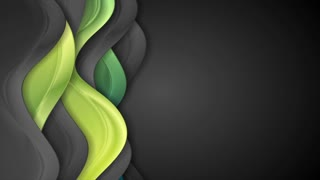 Abstract green and black smooth waves corporate motion design. Seamless looping. Video animation Ultra HD 4K 3840x2160