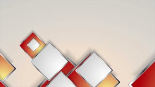Abstract grey and red silver squares motion design. Seamless looping. Video corporate animation Ultra HD 4K 3840x2160