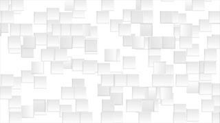 Abstract grey animated squares on white background. Seamless loop motion design. Video clip Ultra HD 4K 3840x2160