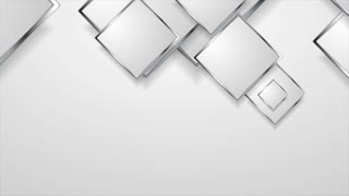 Abstract grey silver metal squares motion design. Seamless looping. Video corporate animation Ultra HD 4K 3840x2160