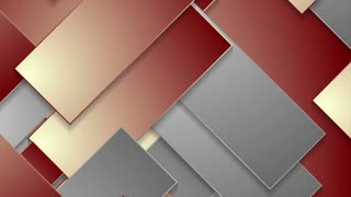 Abstract red and grey geometric tech motion design. Seamless looping. Video corporate animation Ultra HD 4K 3840x2160