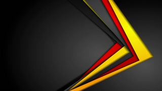 Abstract red, orange and black corporate material motion background. Video animation Ultra HD 4K 3840x2160