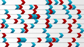 Abstract tech blue and red arrows motion background. Video animation Ultra HD 4K 3840x2160