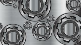 Abstract technology metallic gears mechanism motion design. Seamless looping. Video animation Ultra HD 4K 3840x2160