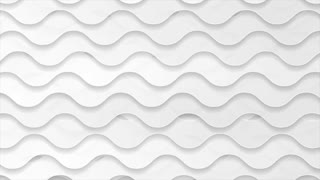 Abstract white and grey futuristic wavy corporate motion design. Seamless looping. Video animation Ultra HD 4K 3840x2160