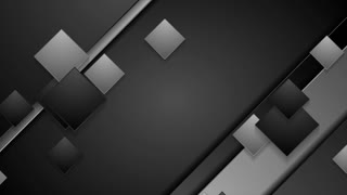 Black and grey geometric abstract motion design with squares. Seamless loop. Video animation Ultra HD 4K 3840x2160