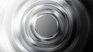 Black and white glossy metallic circles abstract motion design. Seamless looping. Video animation Ultra HD 4K 3840x2160