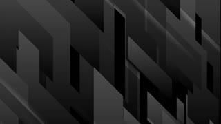 Black tech geometric minimal motion background. Video seamless looping animation Ultra HD 4K 3840x2160