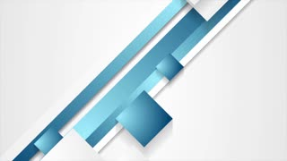 Blue abstract stripes and squares corporate motion design. Seamless loop. Video animation Ultra HD 4K 3840x2160