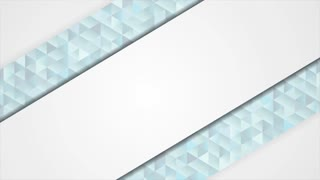 Blue and grey abstract tech low poly mosaic corporate motion design. Video animation Ultra HD 4K 3840x2160